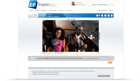 A Video-Based Online English Course